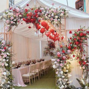 Cổng hoa lụa đám cưới – CL01